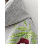 Embroidered String Thickening Hoodie deal
