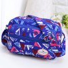 Buy Zippers Colour Block Triangle Pattern Crossbody Bag BLUE