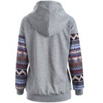 cheap Tribal Print Raglan Sleeves Pocket Hoodie