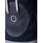 best Graphic and Geometric Print Cotton Blends Drawstring Hoodie
