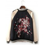cheap Double-Wear Floral Embroidered Souvenir Jacket