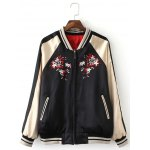 Double-Wear Floral Embroidered Souvenir Jacket