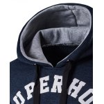 Graphic Printed Cotton Blends Drawstring Hoodie for sale