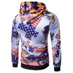 cheap 3D American Flag Star Printed Pullover Hoodie