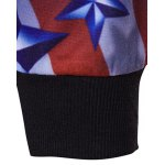 3D American Flag Star Printed Pullover Hoodie for sale