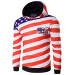 3D USA Flag Star Printed Pullover Hoodie
