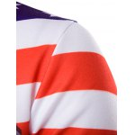 3D USA Flag Star Printed Pullover Hoodie deal
