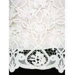 Plus Size Bell Sleeve Sheer Lace Blouse for sale