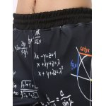 Mathematics Printed Elastic Waist Jogger Pants for sale