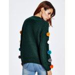 Pompon Chunky Knit Sweater for sale