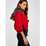 Faux Fur Hooded Knitted Cape Cardigan deal