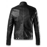Faux Leather Insert Quilted Shoulder Zip Up Jacket deal