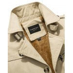 Zip Pocket Epaulet Design Buckled Flocking Jacket deal