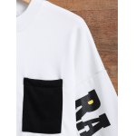 Jewel Neck Side Slit Graphic Sweatshirt for sale