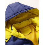 Zip Pocket Hooded Padded Jacket for sale