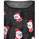 Cartoon Santa Print Hollow Out Knitwear deal