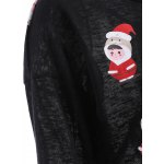 Cartoon Santa Print Hollow Out Knitwear for sale