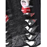 Cartoon Santa Print Hollow Out Knitwear photo