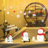 Christmas Snowman Removable Wall Decals for Living Room for sale