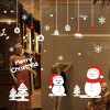 cheap Christmas Snowman Removable Wall Decals for Living Room