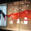 Christmas Snowman Removable Wall Decals for Living Room