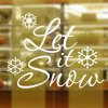 cheap Christmas Let It Snow Removable Glass Window Wall Stickers