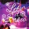 Christmas Let It Snow Removable Glass Window Wall Stickers for sale