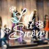 Christmas Let It Snow Removable Glass Window Wall Stickers deal