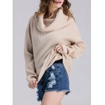 Loose Fit Ribbed Cowl Sweater deal