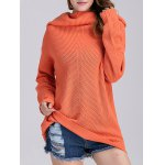 Loose Fit Long Cowl Sweater