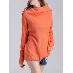cheap Loose Fit Long Cowl Sweater