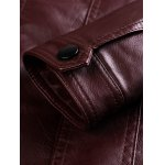best Stand Collar Zipper Pocket Faux Leather Jacket