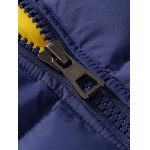 Zip Up Pocket Design Hooded Padded Jacket deal
