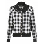 best Button Up Plaid Bomber Jacket