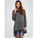 cheap Hooded Asymmetric Loose Sweater