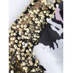 Mesh Sequined High Low Printed Top for sale