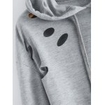 best Polka Dot Cut Out Cropped Short Hoodie