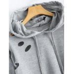 Polka Dot Cut Out Cropped Short Hoodie for sale
