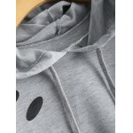 Polka Dot Cut Out Cropped Short Hoodie photo