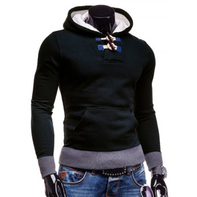 Stylish Hooded Horn Button Patched Splicing Slimming Long Sleeve Polyester Hoodie For MenMens Hoodies &amp; Sweatshirts<br>Stylish Hooded Horn Button Patched Splicing Slimming Long Sleeve Polyester Hoodie For Men<br><br>Clothing Length: Regular<br>Material: Polyester<br>Package Contents: 1 x Hoodie<br>Sleeve Length: Full<br>Style: Fashion<br>Weight: 0.375kg