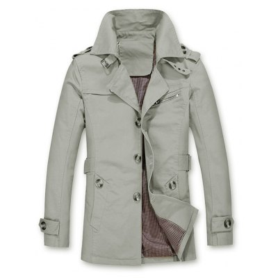 Epaulet Design Buckled Coat