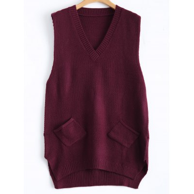 Sleeveless Knitted Vest Dress