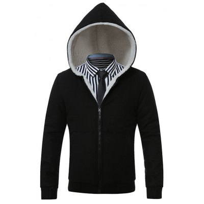 Hooded Thicken Flocking Hoodie