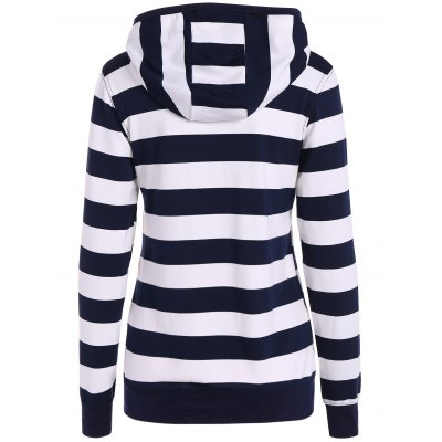 Zip Up Drawstring Striped HoodieSweatshirts &amp; Hoodies<br>Zip Up Drawstring Striped Hoodie<br><br>Material: Polyester<br>Clothing Length: Regular<br>Sleeve Length: Full<br>Style: Fashion<br>Pattern Style: Striped<br>Season: Fall,Spring<br>Weight: 0.350kg<br>Package Contents: 1 x Hoodie