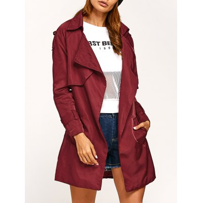 Epaulet Wrap Coat