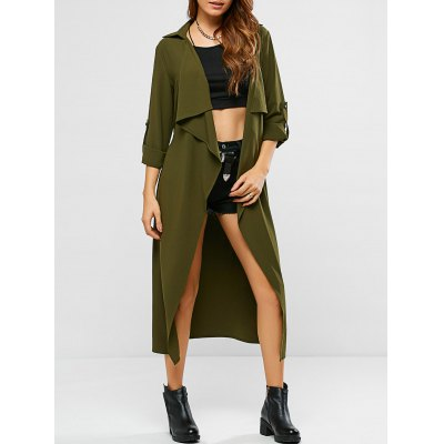 Tie Belt Adjustable Sleeve Trench Coat
