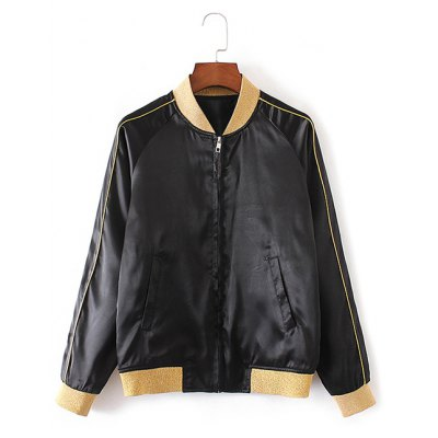 Baby Letter Patchy Bomber Jacket