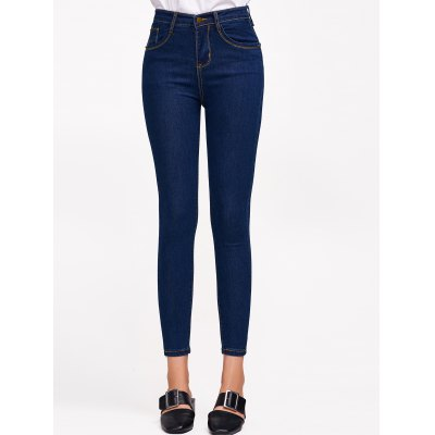 High Waist Ninth Jeans