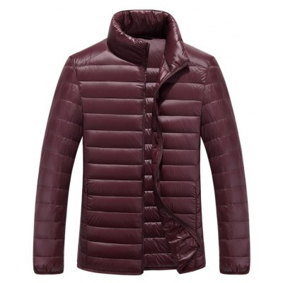 Funnel Neck Zipper Up Quilted Jacket