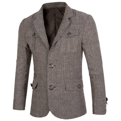 Vintage Multi Pocket Lapel Single Breasted Blazer